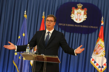 Il presidente della Serbia Aleksandar Vučić (Shutterstock)