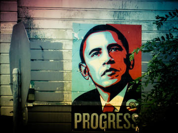 Obama poster, progress