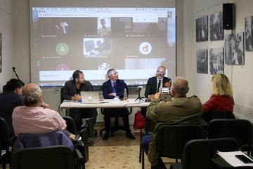 Tavolo dei relatori della conferenza dell'8 giugno 2020 su carcere e querele bavaglio