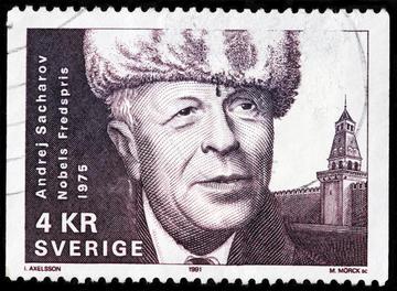 Andrej Sacharov ritratto su un francobollo svedese - © Sergey Goryachev/Shutterstock