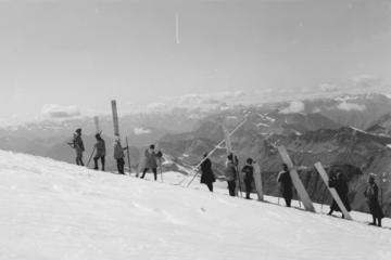 Prigionieri ai lavori forzati ihn alta quota durante la Prima guerra mondiale