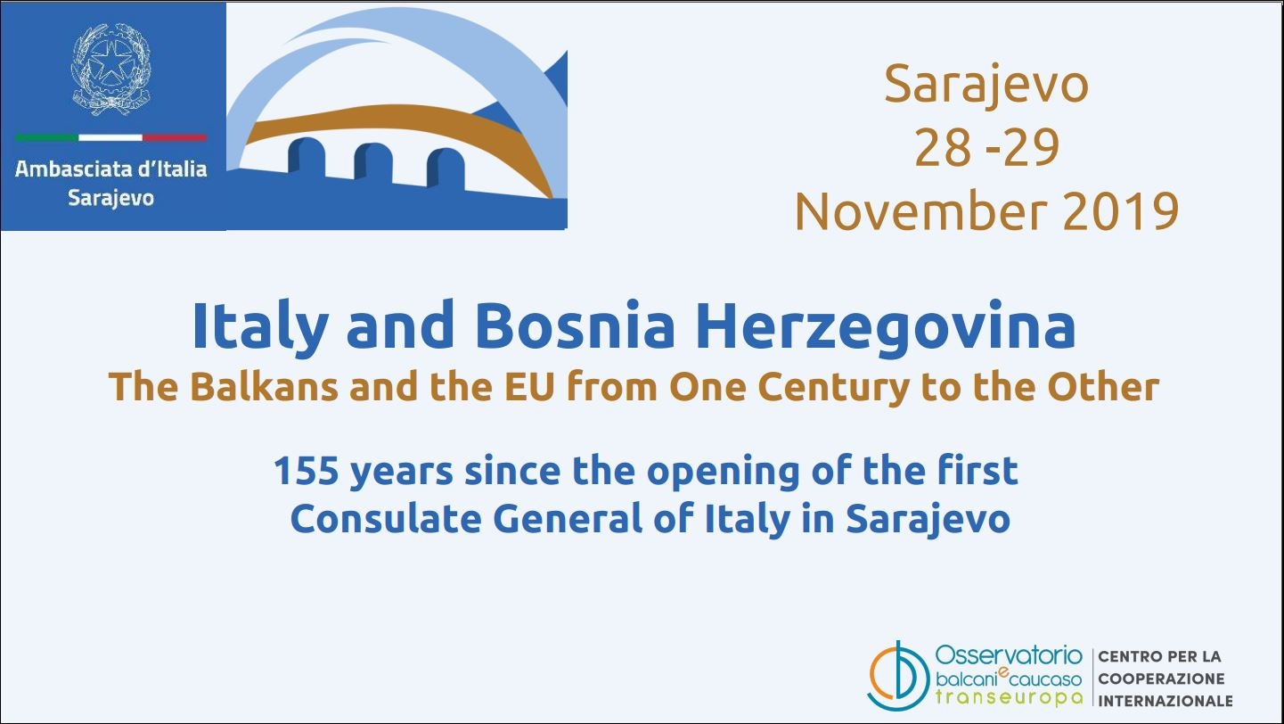 Italy and Bosnia and Herzegovina: the Balkans and the EU from one century to another