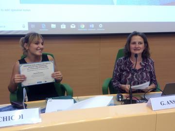 Verona, premiazione Chiara Ferrera, Il Parlamento dei diritti 19 ottobre 2018.jpg